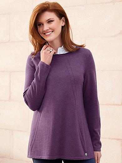 Anna Aura - Round neck jumper in 100% new milled wool