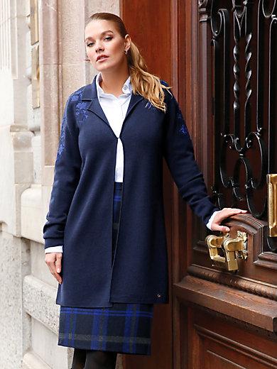 Anna Aura - Strickmantel mit Stickerei an Schulter und Ärmel