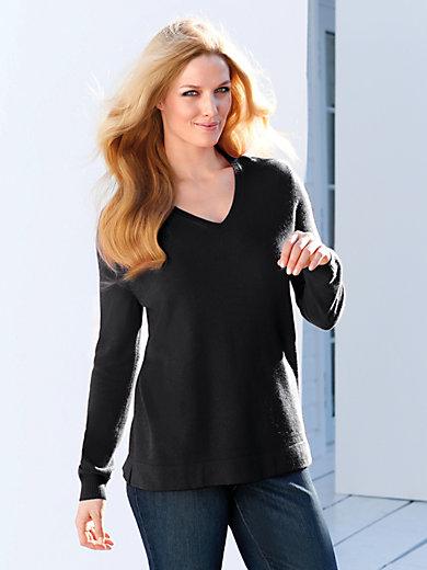 Anna Aura - V-neck jumper in 100% cashmere - design VERA