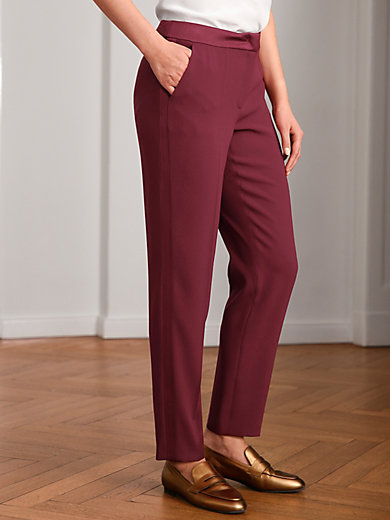 Basler - Ankle-length trousers with satin inserts