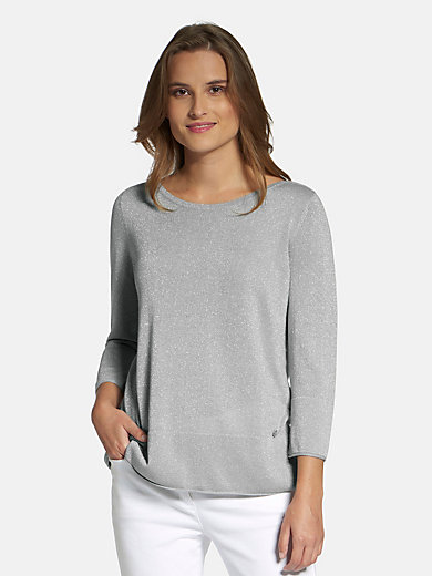 Basler - Boat neck jumper with 3/4-length sleeves