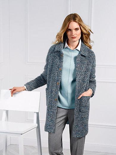 Basler - La veste longue, maille bouclée, ligne droite