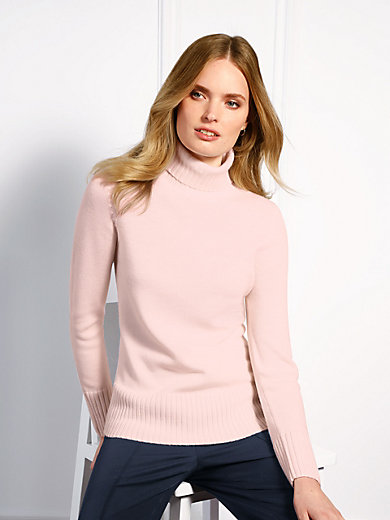 Basler - Polo neck jumper in 100% new milled wool