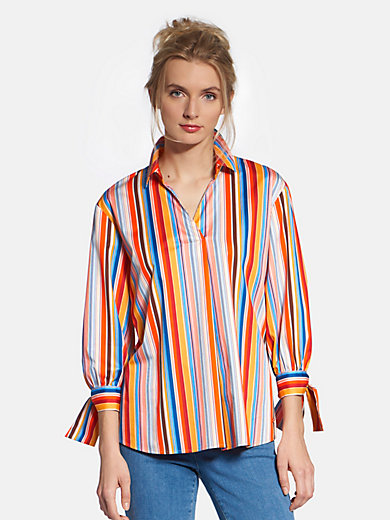 Basler - Pull-on blouse with shirt collar