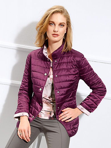 Basler Reversible Quilted Jacket Dark Bright Pink Multi