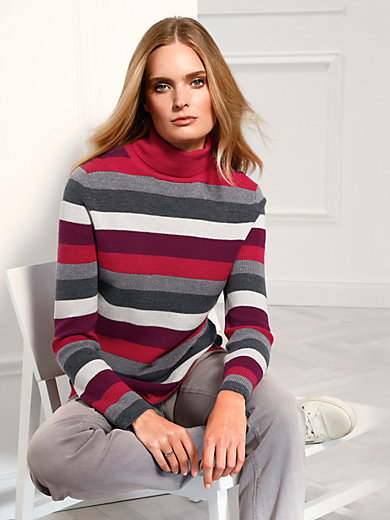 Basler - Roll neck pullover in 100% new milled wool