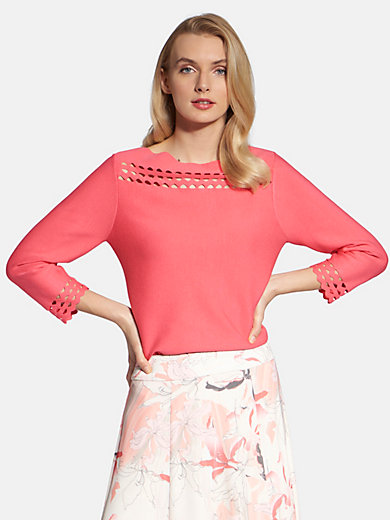 Basler - Round neck jumper with 3/4-length sleeves