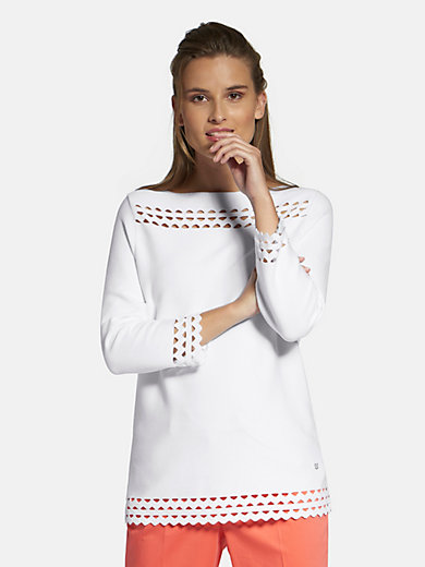 Basler - Round neck jumper with 3/4-length sleeves