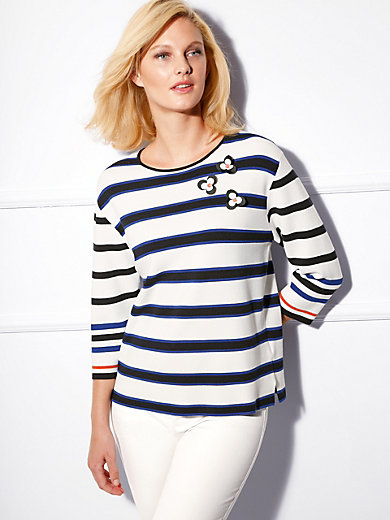 Basler - Round neck pullover with 3/4-length sleeves