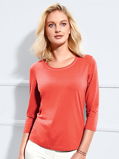 Basler - Round neck top with 3/4-length sleeves