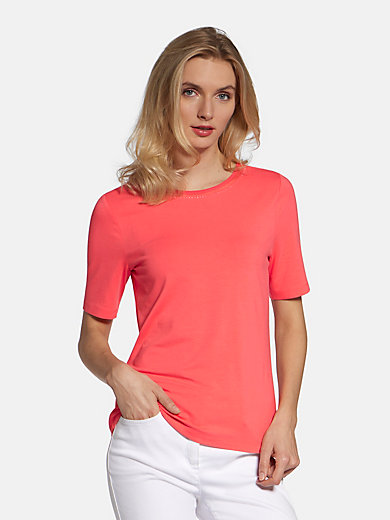 Basler - Round neck top with short sleeves