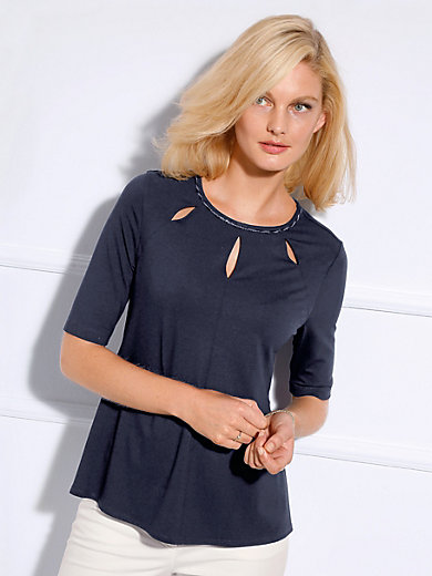 Basler - Shirt met ronde hals en verlengde korte mouwen