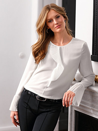 Basler - Slip-on blouse with pleat detail