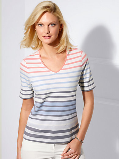 Basler - V-neck top with short sleeves