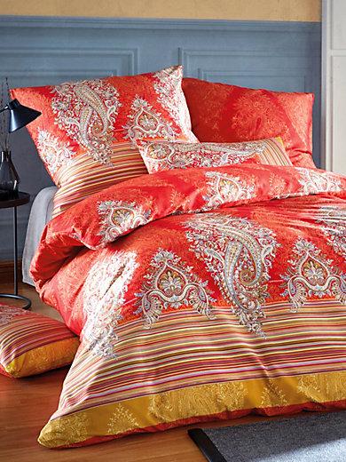 bassetti bettw sche garnitur elba ca 155x220cm rot multicolor. Black Bedroom Furniture Sets. Home Design Ideas