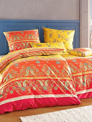 bassetti la parure de lit raffaelo 135x200 80x80 cm jaune orange rouge. Black Bedroom Furniture Sets. Home Design Ideas