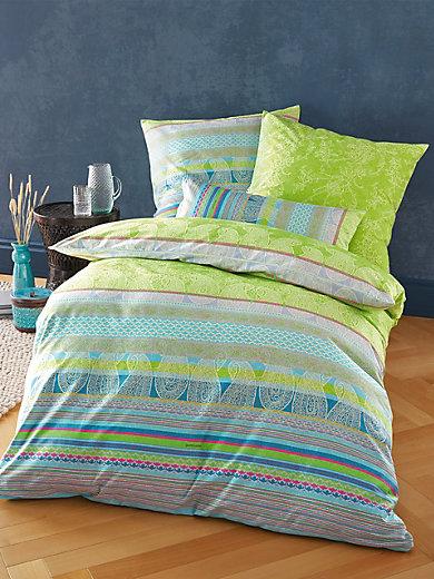 bassetti la parure de lit tiziano 135x200 80x80 cm vert multicolore. Black Bedroom Furniture Sets. Home Design Ideas