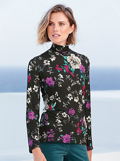 Betty Barclay - Rollkragen-Shirt mit prächtigem Blüten-Druck