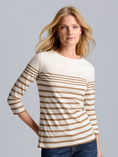 Bogner - Boat neck top with 3/4-length sleeves