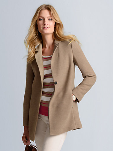 Bogner - Le blazer long en laine à col tailleur