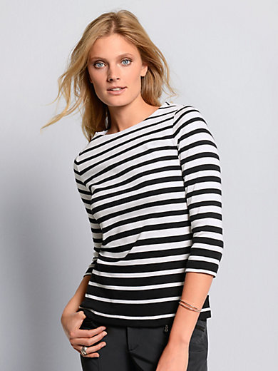 Bogner - Top with 3/4-length sleeves in 100% cotton