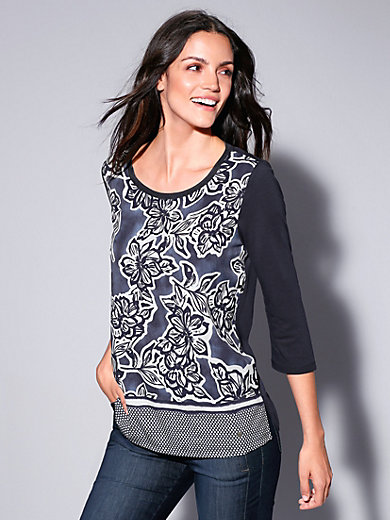 Brax Feel Good - Blouse top with 3/4-length sleeves