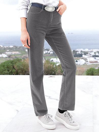 Brax Feel Good - Feminine fit velvet trousers design Carola