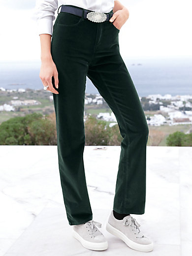 Brax Feel Good - Feminine fit velvet trousers design Carola