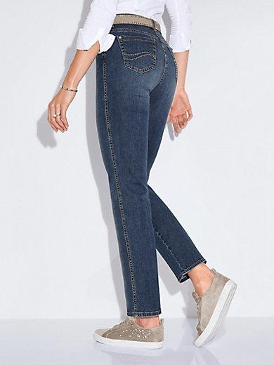 3fdc4328ebec2 Brax Feel Good - Le jean Slim Fit modèle Mary - bleu denim usé