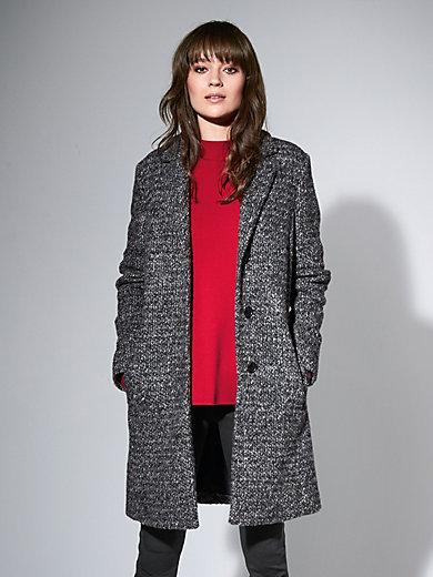 Brax Feel Good - Le manteau 3/4 en drap bouclé, col tailleur