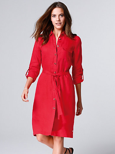 Brax Feel Good - Linen dress with roll-up sleeves
