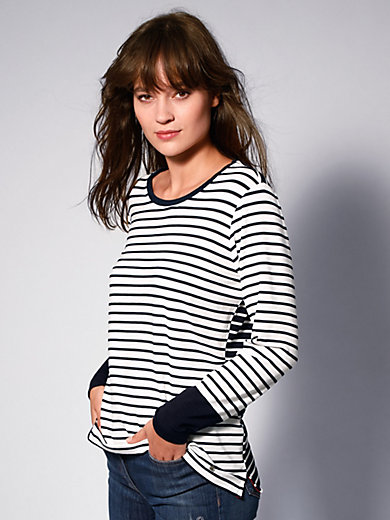 Brax Feel Good - Round neck top in nautical look