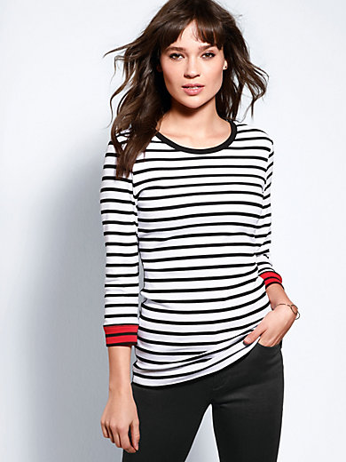 Brax Feel Good - Round neck top with 3/4-length sleeves