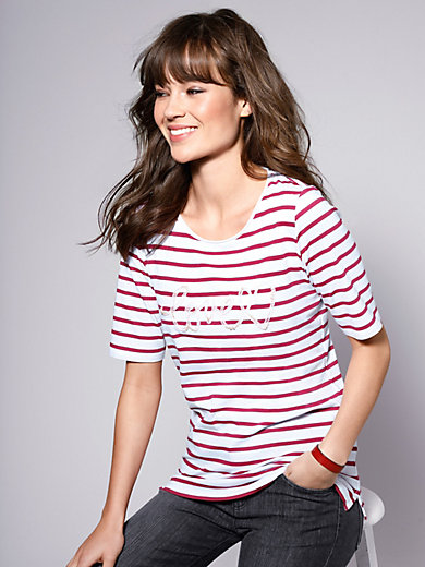 Brax Feel Good - Round neck top with lettering at the front