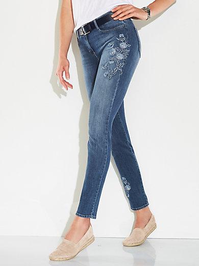 Weltweit Versandkostenfrei bester Verkauf klassischer Stil von 2019 Slim Fit-jeans, modell SHAKIRA FLOWER