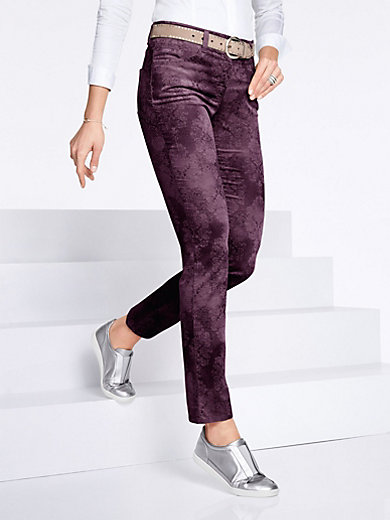 Slim Fit velvet trousers - Design SARA Brax Feel Good brown Brax RQZw1dpCi