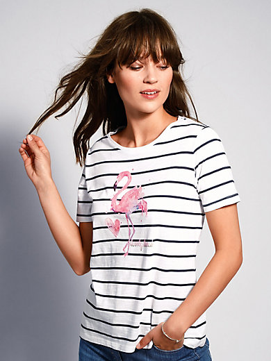 Brax Feel Good - Striped top with short sleeves