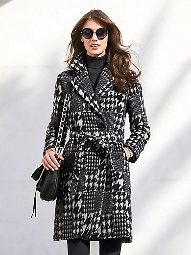 Cinzia Rocca Icons - Le manteau court, col à revers, motif pied-de-coq