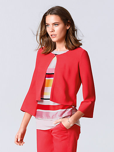 comma, - Cardigan with 3/4-length trumpet sleeves