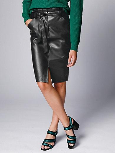 comma, - Imitation leather skirt