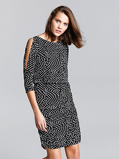 comma, - Jersey dress with 3/4-length sleeves