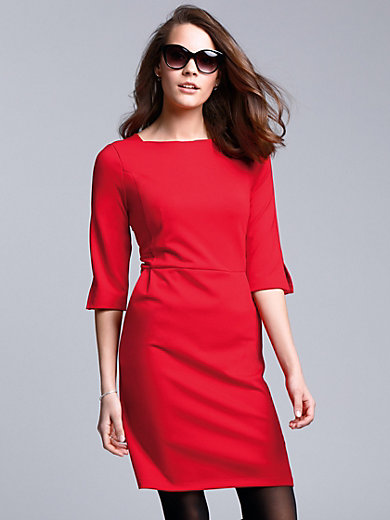 comma, - Jersey dress with vented 3/4-length sleeves