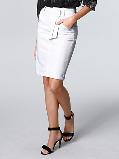 comma, - La jupe en jean, coupe 4 poches