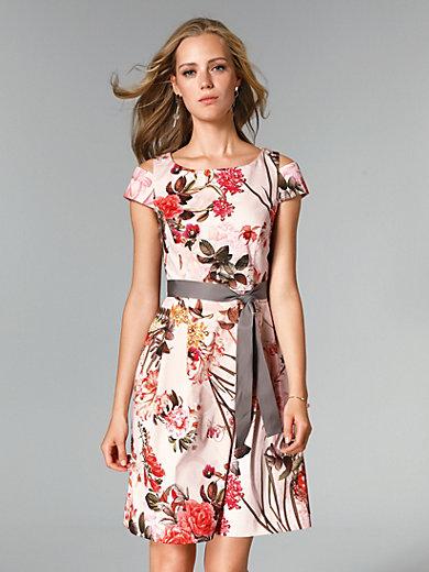 comma, - La robe imprimée, ligné cintrée, jupe à plis creux