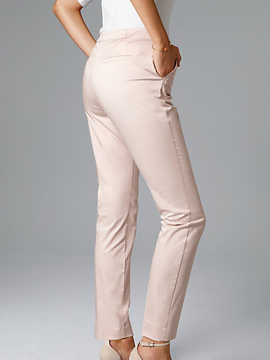 comma, - Le pantalon 7/8 en satin de coton