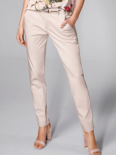 comma, - Le pantalon chino en satin de coton stretch