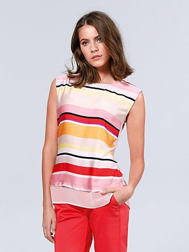 comma, - Le T-shirt-chemisier sans manches