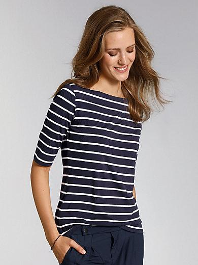 comma, - Le T-shirt rayé, manches aux coudes, col bateau