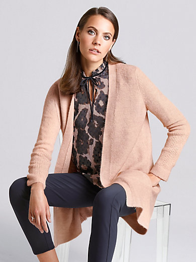 comma, - Open-fronted cardigan