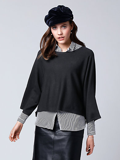 comma, - Poncho-Pullover mit weitem 3/4-Arm